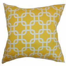 Qishn Geometric Cotton Throw Pillow