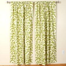 Lime Rod Pocket Curtain Panel (Set of 2)
