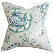 Riah Floral Linen Throw Pillow