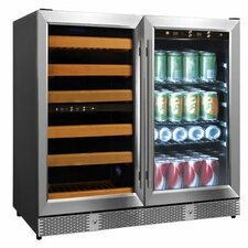 56 Bottle Dual Zone Built-In Wine Refrigerator