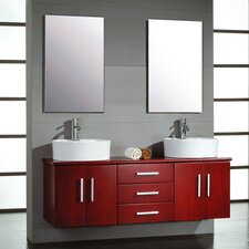 "Moonstone 59"" Double Bathroom Vanity Set"