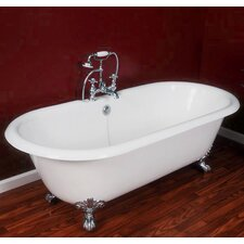 "67.25"" x 22.25"" Double Ended Claw Foot  Bathtub"