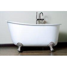 """57.5"""" x 29.5"""" Claw Foot Slipper  Bathtub"""