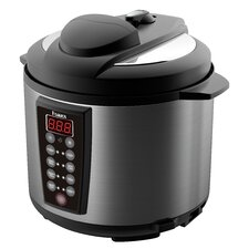 6.3-Quart Electric Pressure Cooker with 2 Inner Pots