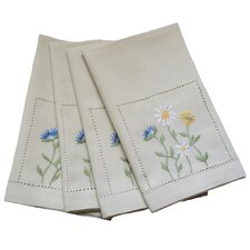 Spring Field Embroidered Cutwork Tea Towel (Set of 4)