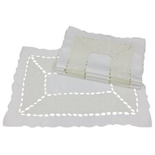 Simply Divine Embroidered on Sheer Cutwork Placemat (Set of 4)