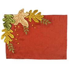 Leaves Applique with Emboridery Placemat