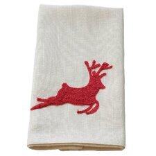 Reindeer Crewel Embroidery Holiday Tea Towel