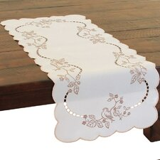 Woodland Embroidered Cutwork Mini Table Runner