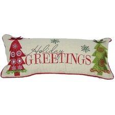 Holiday Greetings Bolster Pillow