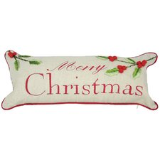 Holiday Christmas with Holly Bolster Pillow