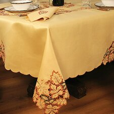 Bountiful Leaf Embroidered Cutwork Fall Table Cloth