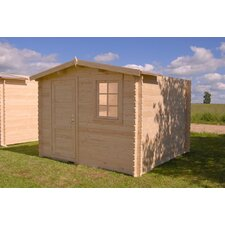Optima 10 Ft. W x 10 Ft. D Solid Wood Garden Shed