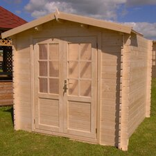 Optima 7 Ft. W x 7 Ft. D Solid Wood Garden Shed