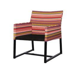Stripe Casual Chair with Cushion