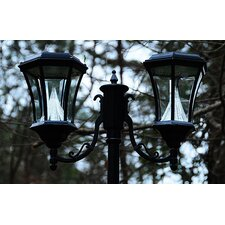 Victorian Solar Lamp Post and Two Nine-LED Lanterns