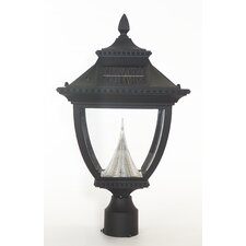 Pagoda Eight-LED Solar Light Fixture on Three-Inch-Diameter Pole Fitter