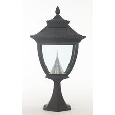 Pagoda Eight-LED Solar Light Fixture on Flat Pier Base