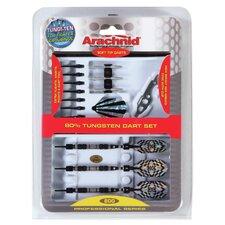 Arachnid 25 Piece Professional 80% Tungsten Dart Set in SideRider™ Case