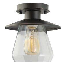 Vintage 1 Light Semi Flush Mount
