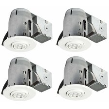 "LED IC Rated Swivel Spotlight 3"" Recessed Kit (Set of 4)"