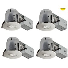 "LED Integrated IC Rated Swivel Spotlight 4"" Recessed Kit (Set of 4)"