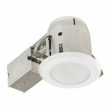 """LED Integrated IC Rated Shower Lens 4"""" Recessed Kit"""