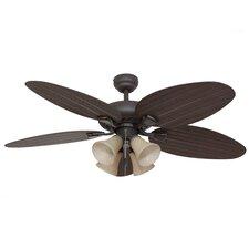 """52"""" Key Largo 4 Light 5 Blade Ceiling Fan"""