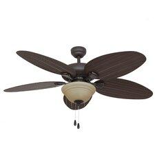 """52"""" Key Largo Bowl Light 5 Blade Ceiling Fan"""