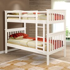 Donco Twin Bunk Bed with Built-In Ladder