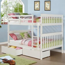 Mission Full Over Full Bunk Bed with Dual Underbed Drawers