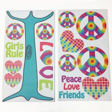 Terrific Tie Dye Wall Decal (Set of 2)