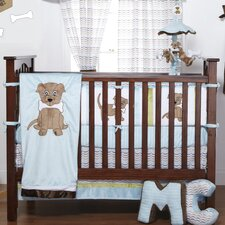 Puppy Pal Boy Infant 4 Piece Crib Bedding Set