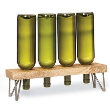French Market Tabletop Wooden Wine Rack
