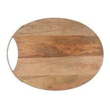 French Market Copper Trim Oval Cutting Board