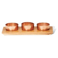 French Market Copper Condiment Bowls