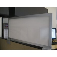 """12"""" Cubicle Mounted Privacy Panel with Large Brackets"""