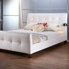 Baxton Studio Amara Upholstered Panel Bed