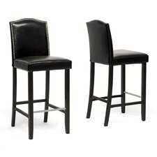 "Baxton Studio Libra 30.5"" Bar Stool with Cushion (Set of 2)"
