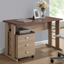 Baxton Studio Woodrow Writing Desk with File Cabinet