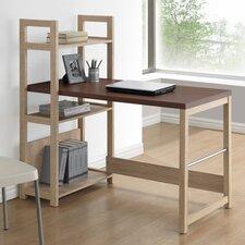 Baxton Studio Hypercube Writing Desk with Bookshelf