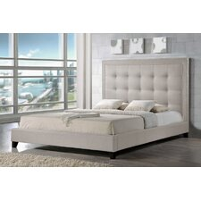 Baxton Studio Hirst Panel Bed with Bench