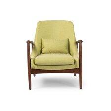 Baxton Studio Carter Mid-Century Modern Upholstered Leisure Arm Chair
