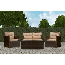 Baxton Studio Imperia 4 Piece Seating Group with Cushions