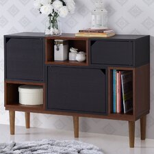Anderson Retro Oak and Espresso Wood Sideboard Storage Cabinet