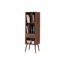 "Ellingham Mid-century Retro Modern 1 Drawer 60.83"" Standard Bookcase"