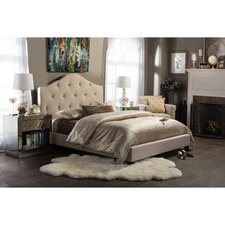 Baxton Studio Anica Scalloped Upholstery Platform Bed