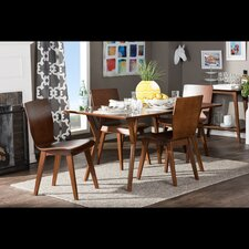 Elsa Dark Walnut Bent Wood 5-Piece Dining Set