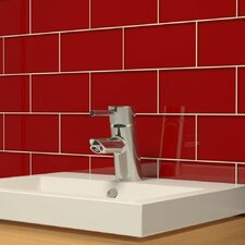 "3"" x 6"" Glass Subway Tile in Ruby Red"