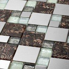 Venetian Random Sized Glass and Aluminum Mosaic Tile in Florence